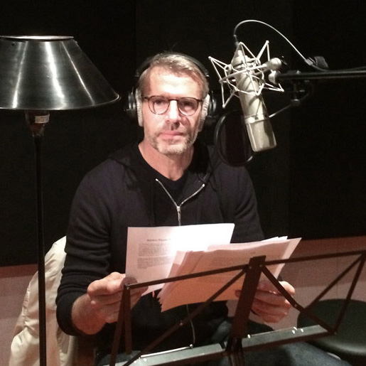 Enregistrement voix-off Lambert WILSON au Studio Baxendal Post-production Paris